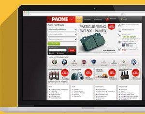 E-commerce di Paone autoricambi con layout responsive e microdati. Semantica oltre che design,