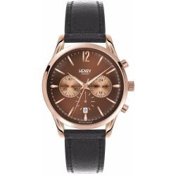 Henry London - Unisex 39mm Harrow Chronograph Leather Strap Watch