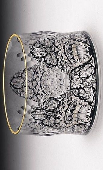 An enamelled and gilded glass bowl, attributed to Karl Massanetz for Lobmyer,..