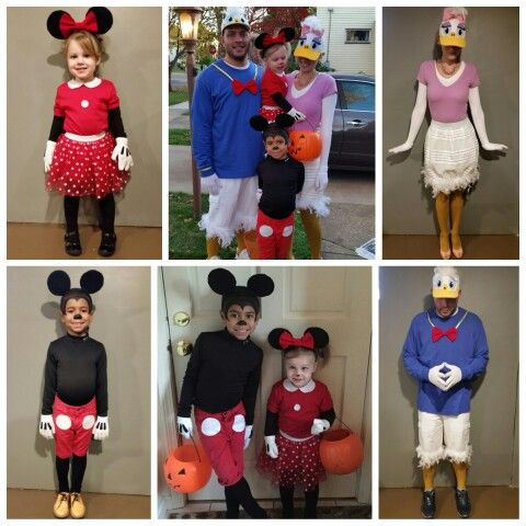 disney mickey mouse clubhouse family halloween costume 2015 donald duck daisy duck minnie - Baby Mickey Mouse Halloween Costume