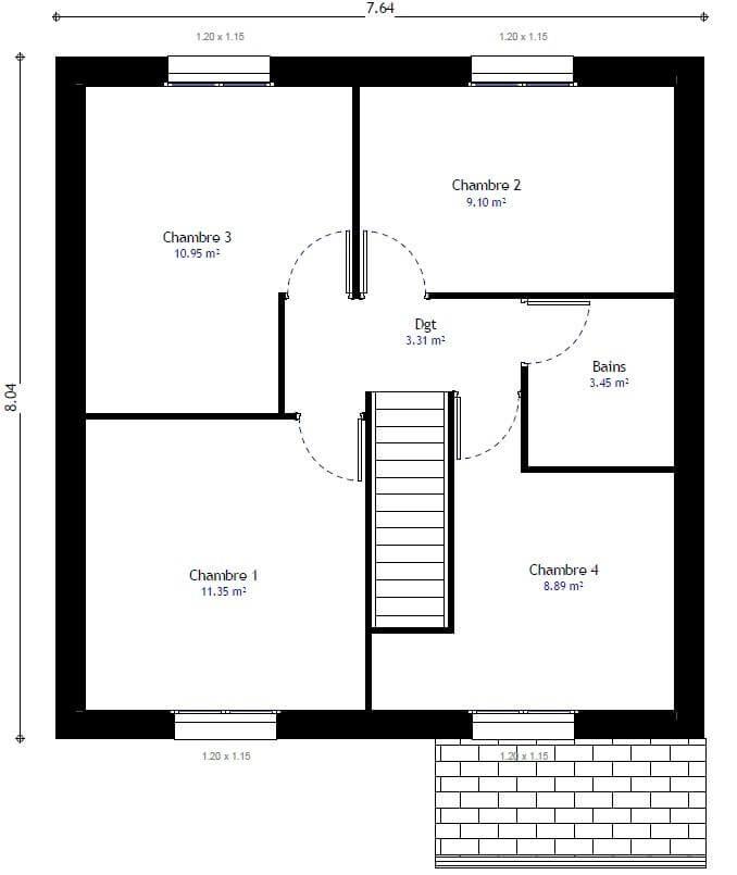 12 best Plan maison images on Pinterest Building homes - plan agrandissement maison gratuit