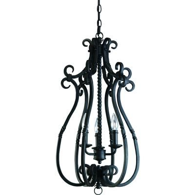 Progress Lighting - Santiago Collection Forged Black 3-light Foyer Pendant - 785247134205 - Home Depot Canada