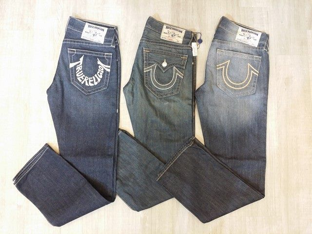 Peace, love & a great pair of blue jeans! #PlatosClosetBrampton has some fantastic men's #TrueReligion jeans in stock - Sure to give you a little extra style for your next #Fridaynight date! #mensfashion #datenight | www.platosclosetbrampton.com