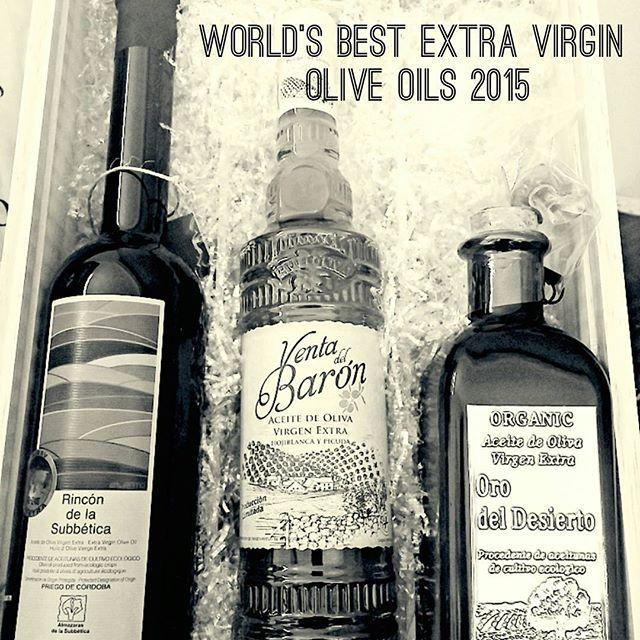 Un gran placer tener entre nuestros productos a los tres ganadores del world's best #oliveoil 2014/2015 #winner #AVOE #Almazaraslasubbetica #Ventadelbaron #Orodeldesierto Puedes comprarlos en www.olivaoliva.com