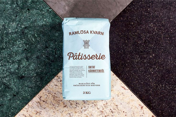 Branding and packaging for Swedish flour business Ramlösa Kvarn by Amore.