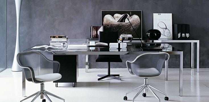 שולחנות עבודה מודרניים Progetto 1 מאת B&B, מעצב Monica Armani