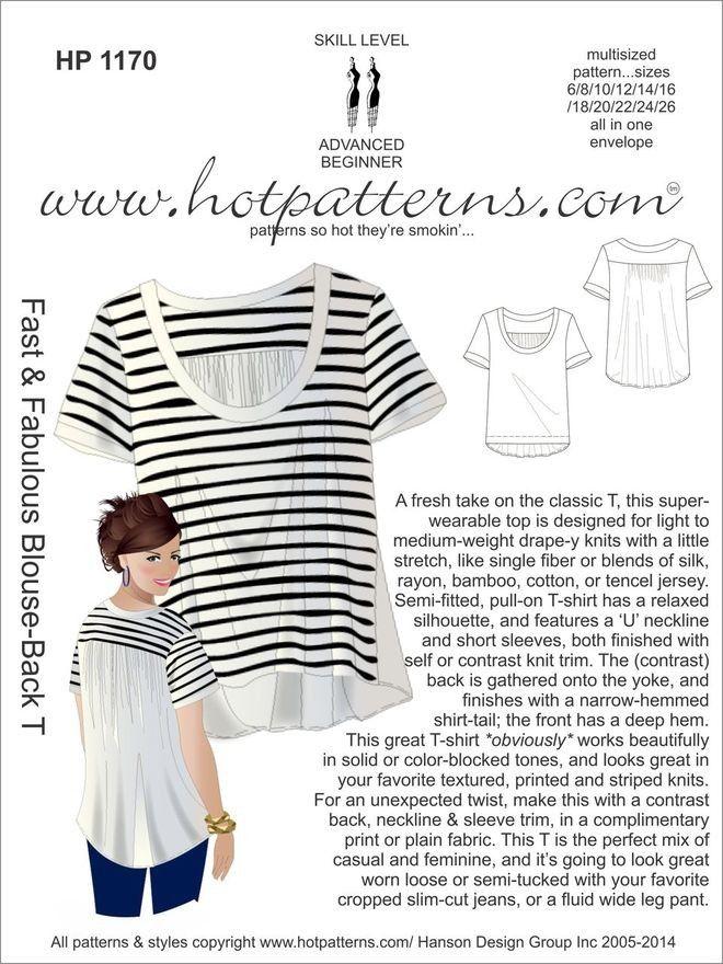 Hot Patterns 1170 - Fast & Fabulous Blouse-Back T