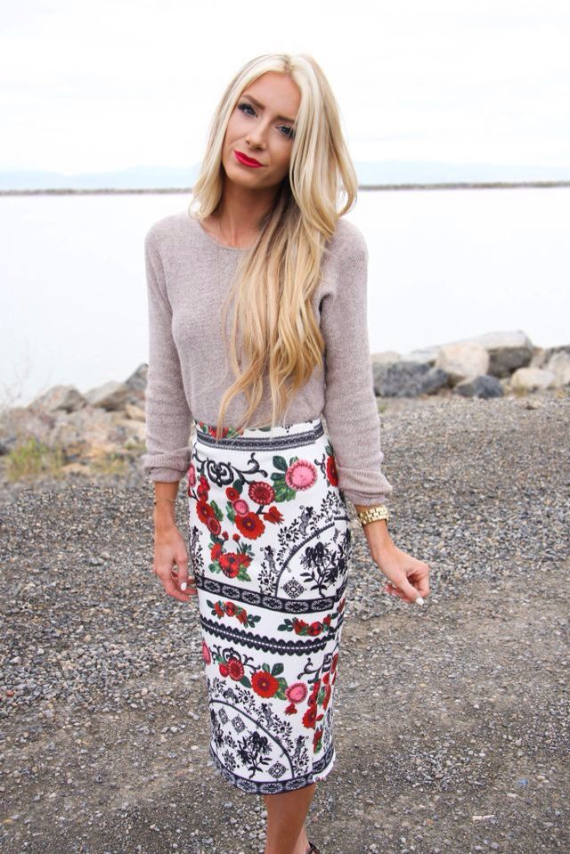 Mexican inspired pencil skirt- stevie henderson