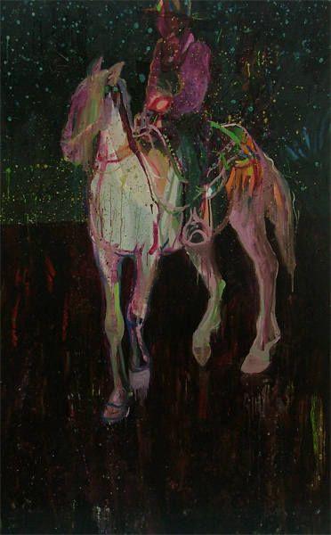 "Saatchi Art Artist: Alice Brasser; Oil 2008 Painting ""Caballero del sur, SOLD"""