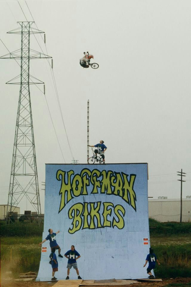 Always the first record holder! Whatever with what other people say.... Matt Hoffman was the true original in BMX...... First to clear the 20 foot mark! Matt Hoffman is BMX royalty