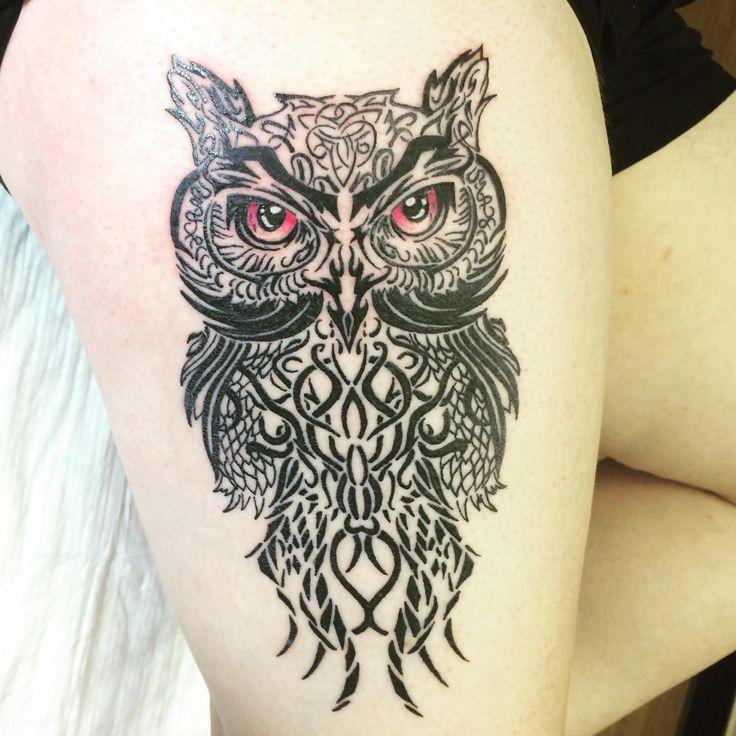 Owl tattoo. Joel berdusco. Dimora. San Diego CA