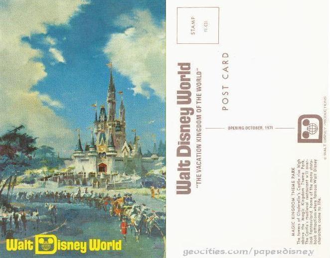 disney postcard vintage