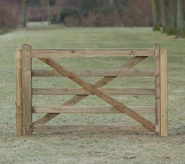 Rustic Garden Gates | Rustic Garden Entrance Gate in Pine impregnated timber. In the style ...