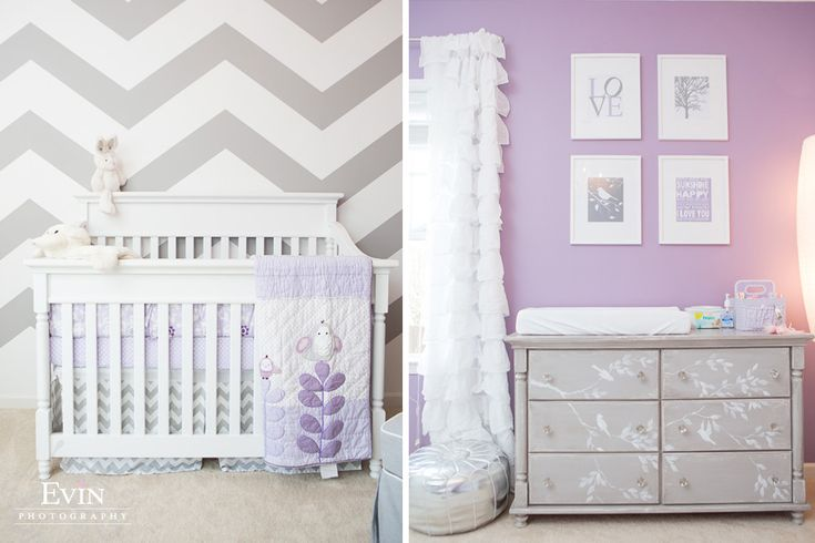 Purple and Grey Chevron Nursery-Thompson Station, TN // Franklin TN Photographer