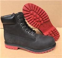 New Timberland Men's Leather Waterproof Premium 6 Inch Boots Black With Red Sole
