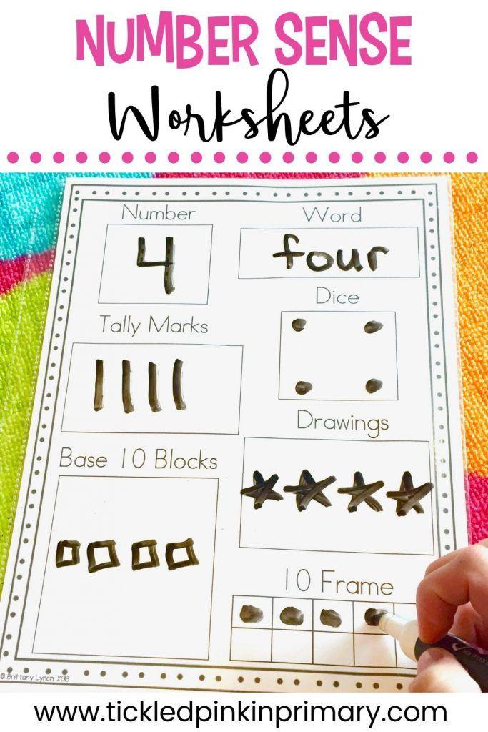 Number Sense Worksheets 1 10 Numbers Kindergarten Kindergarten Math Activities Math Centers Kindergarten