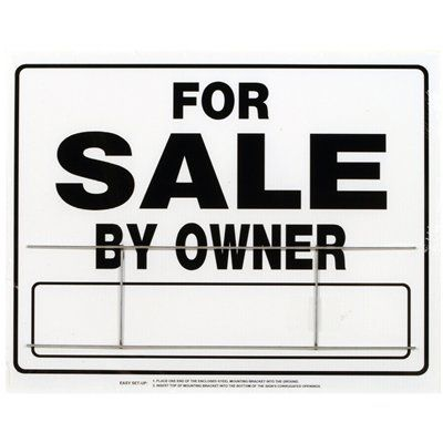 Hillman 840056 20-in x 24-in For Sale by Owner Sign