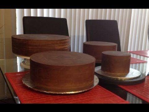 How to ganache your cake for fondant sharp edges, My Crafts and DIY Projects
