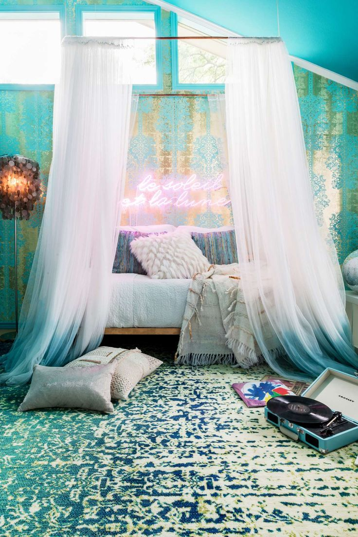 Best 6378 My Peacock Blue Bedroom Images On Pinterest