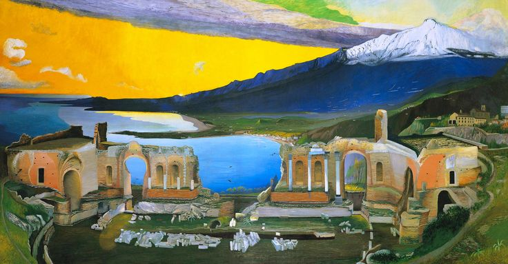 Tivadar Kosztka Csontváry, «Ruins of the Greek Theatre at Taormina»