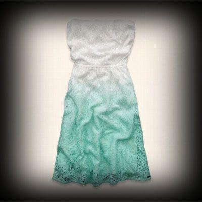 ホリスター レディース ドレス Hollister Seal Beach Strapless Lace Dress ワンピース  ★今季新作アイテム!ヴィンテージ感が人気のアメカジブランドHollister。入手困難なアメリカ限定アイテム展開中!   ★お洒落なグラデーションカラー♪コーディネートのアクセントに◎