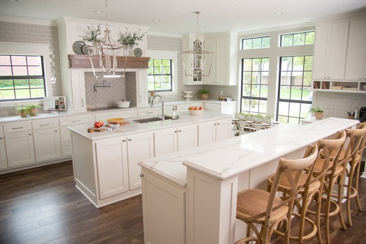 The kitchen was opened up to the rest of the home to give the first floor a more cohesive and open feel. We took over the original dining room to make more space for the new kitchen.