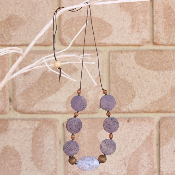 Womens Jewellery Beads Necklace Long by EarthsInspiration on Etsy