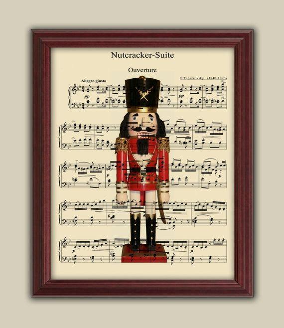 Nutcracker Music Print -cute card