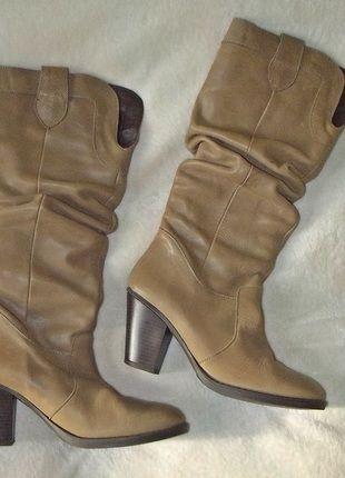 Skórzane kozaki kowbojki na obcasie r. 38/39 (25cm) Kup mój przedmiot na #vintedpl http://www.vinted.pl/damskie-obuwie/kozaki/14558956-skora-naturalna-kozaki-karmelowe-r-38