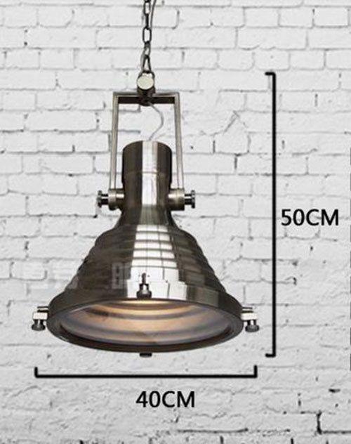 Lustres Moderne Industrielle vintage en métal pendentif lumière Grand lourd mat noir argent bronze haute baie entrepôt pendentif lumières