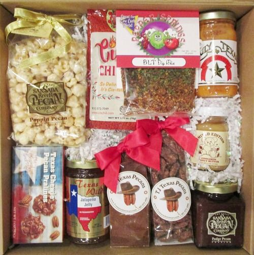 Gift box is filled with delicious Texas made foods that are great for snacks.  Great as a family, office or welcome to Texas gift.