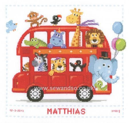 Buy+Safari+Bus+Birth+Sampler+Cross+Stitch+Kit+Online+at+www.sewandso.co.uk