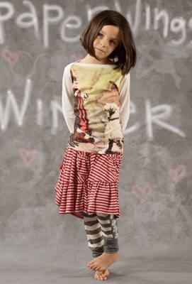 Paper Wings - Jersey Drawstring Skirt