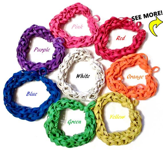 Customize Your Own Rubber Band Bracelet - Bungle Bands - Stretch Bracelets Made w/ Colored Elastic Bands - Fundraisers, Gifts, Spirit Wear