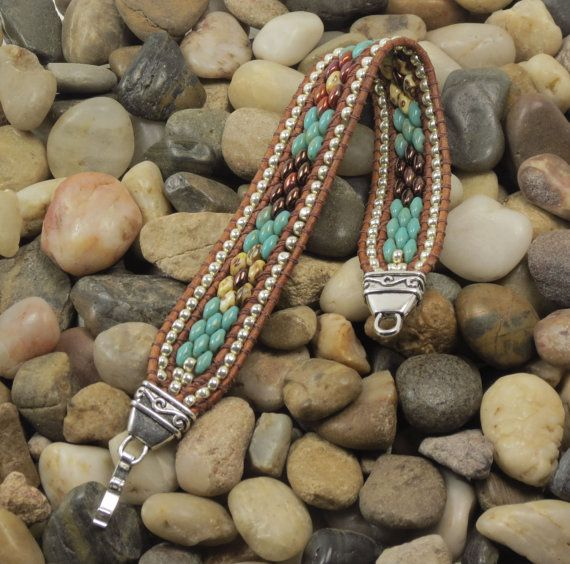 This beaded wrap is hand stitched using very supple 1.5mm leather cord that is FREE OF LEAD, AZO'S, PCP, MERCURY, FORMALDEHYDE, CHROMIUM VI,