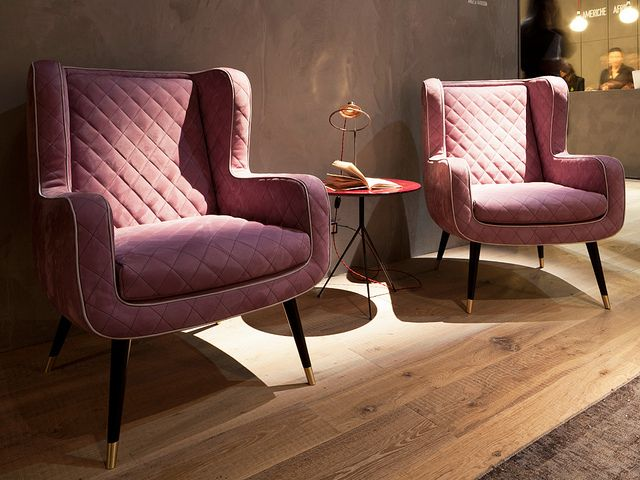 iSaloni 2013. Rediscovered typologies | The bergère can be read simply as a high-back chair, like 'Dolly', designed by Doriana e Massimilano Fuksas for Baxter...