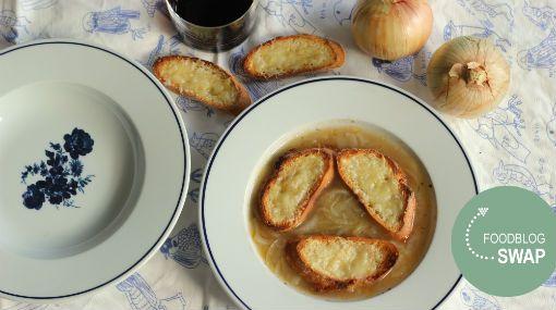 Franse uiensoep met rode port #Foodblogswap januari 2014