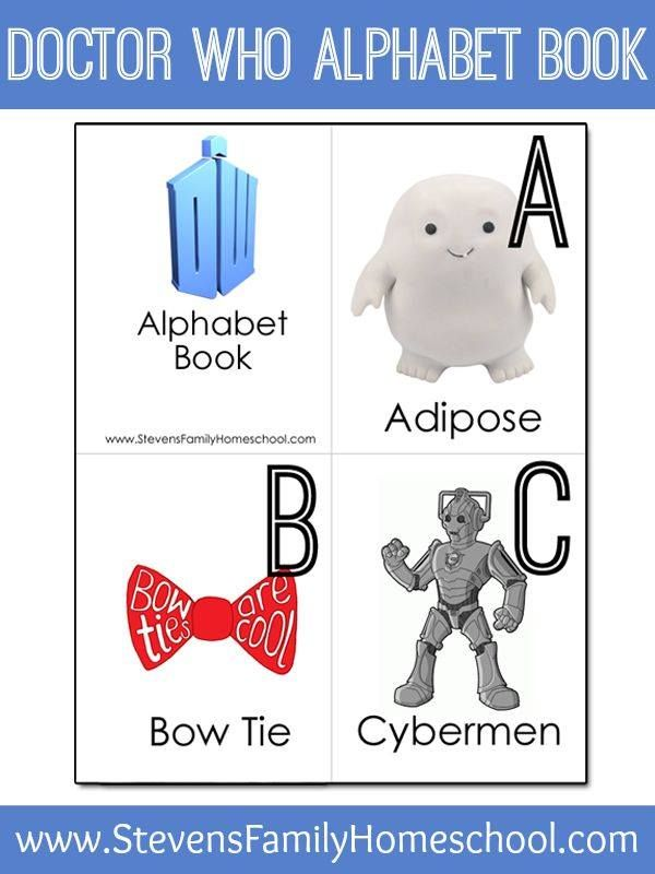 Doctor Who Alphabet Book. @lauraredhead if you have babies, make them learn this alphabet. ;)