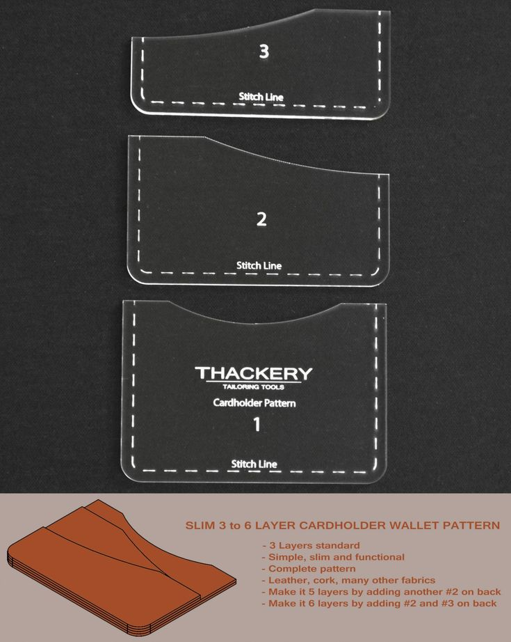 SLIM 3 to 6 LAYER CARDHOLDER WALLET PATTERN — Superb Quality, no finer patterns available anywhere in the world