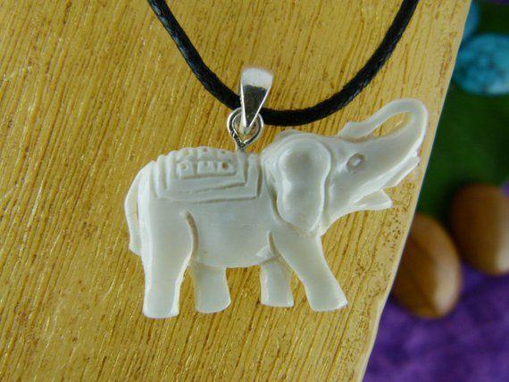 White Elephant Necklace Spirit Animal Necklaces White Etsy Pet Necklace Elephant Necklace Elephant Necklace Etsy