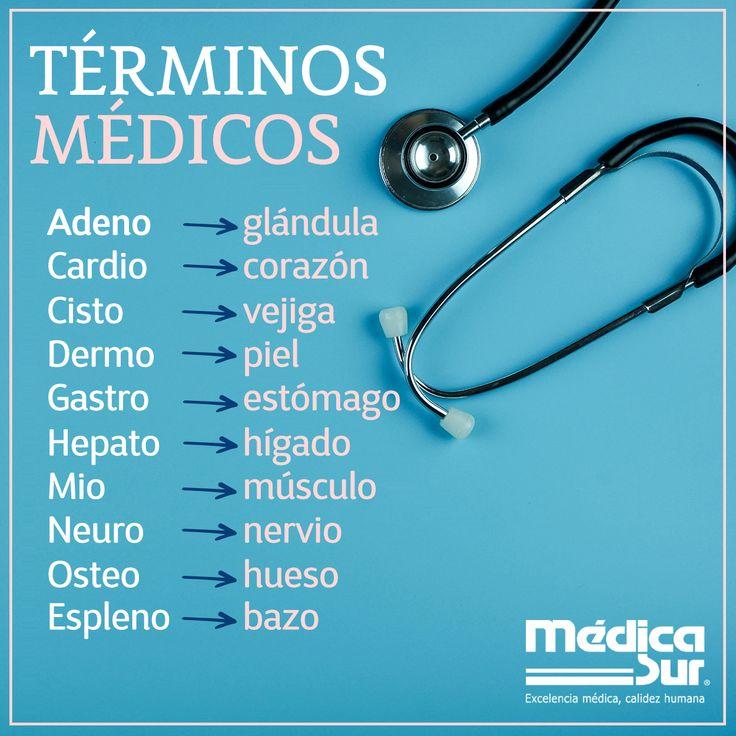 Te compartimos algunos #términos médicos y su significado para que puedas identificarlos más fácil.