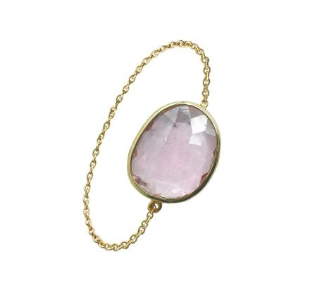 "Lito: #Bague ""Tatoo"" Or 18 cts, tourmaline rose. #ring #jewels"