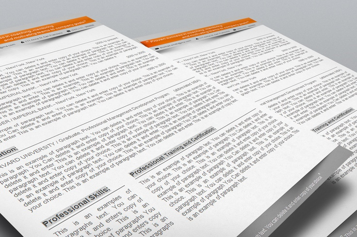 #Resume, #CV Template - templates give you full control over your Resume. Editable with Microsoft Word