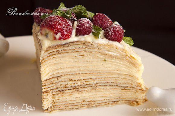 Блинный торт с запарным кремом