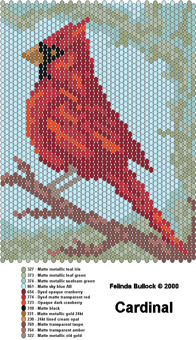 379 best cardinals images on pinterest stained glass birds peyote cardinal pattern i made an ornament out of this in july its beautiful fandeluxe Gallery
