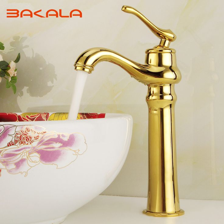 Newly Grilled White Paint Golden Polished Faucets Bathroom Basin Sink Mixer Tap Faucet Hot and cold water B-1090M #women, #men, #hats, #watches, #belts, #fashion