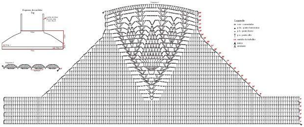 Top recortada Crochet - Gráficos, recetas y la inspiración modelos