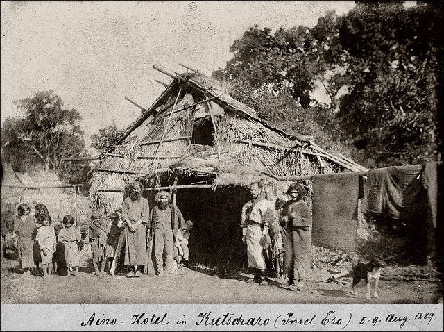 Ainu Hotel in Kutcharo (August 1889)