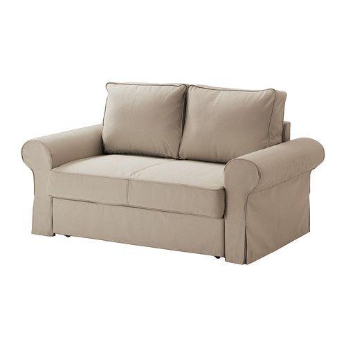 IKEA - BACKABRO / MARIEBY, 2:n istuttava vuodesohva,  , Tygelsjö beige, , Helppo sijata vuoteeksi.Istuimen alla säilytystilaa esim. vuodevaatteille.Pussijouset mukailevat kehon muotoja ja pitävät selkärangan suorassa.Helppo pitää puhtaana konepestävän irtopäällisen ansiosta. 499e  2kpl näitä tai 1kpl divaani.