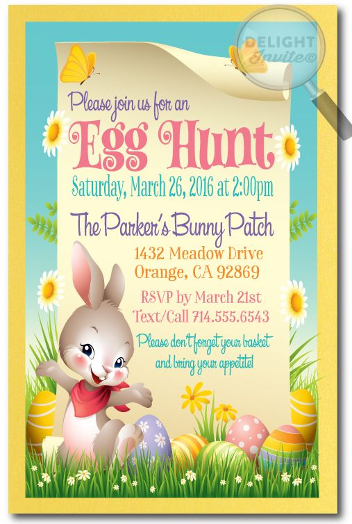 Best Easter Party Invitations Images On   Easter